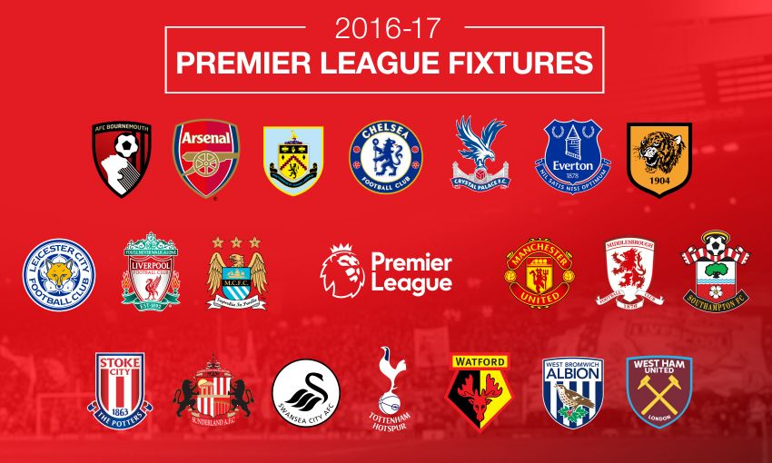 football premier league 2016 fixtures schedule