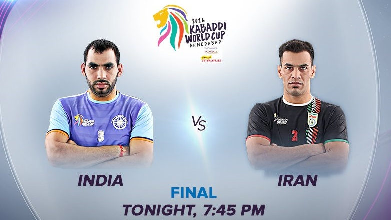India Vs Iran Kabaddi World Cup 2016 Final Live Streaming Hotstar Winner