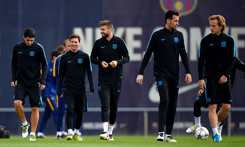 Barcelona Team Training Sessions