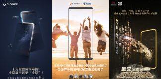 Gionee F6,gionee F205 teaser
