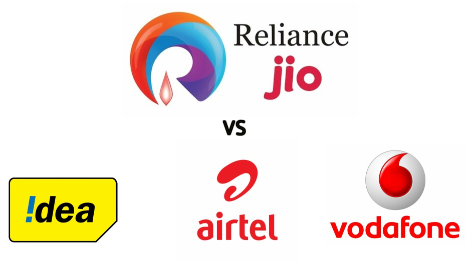 reliance Jio vs Airtel,Vodafone,Idea
