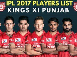 Kings XI Punjab IPL 2017 Full Team & Players List