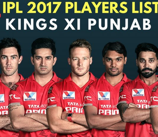 Kings XI Punjab IPL 2017 Full Team & Players List