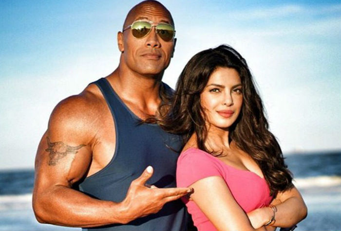 Priyanka Chopra in Baywatch with rock