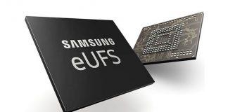 Samsung 512GB eUFS ultra flash storage memory chip