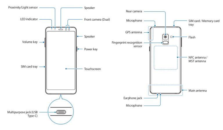 Samsung Galaxy A8 2018 manual leak