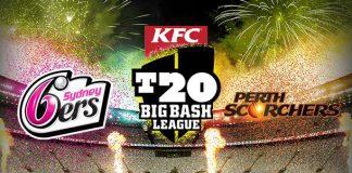 Sydney Sixers v Perth Scorchers bbl 2016