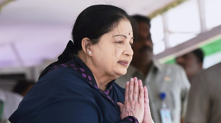 Chennai: Tamil Nadu Chief Minister J Jayalalithaa during the 70th Independence Day function at Fort St George in Chennai on Monday. PTI Photo by R Senthil Kumar (PTI8_15_2016_000240B)