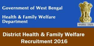 DHFWS Purulia Recruitment 2017