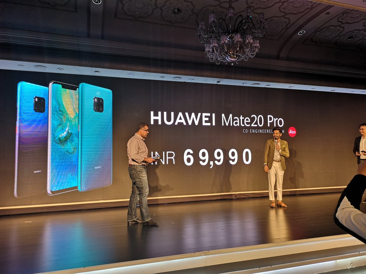 Huawei Mate 20 Pro Launched Specs Features Price In India