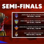 indian super league 2016 semi final fixtures