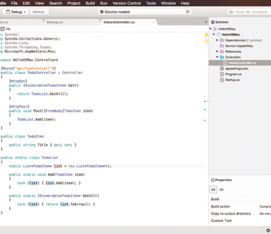 microsoft visual studio for apple mac pro