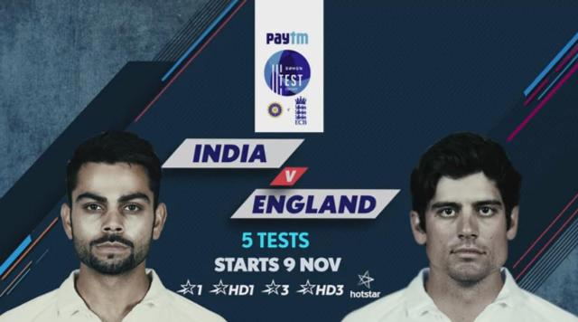 Paytm test series 2016 India Vs England first test match