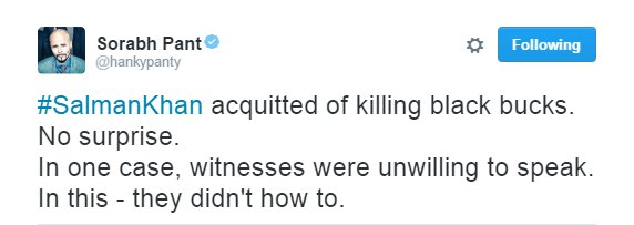rajasthan court Salman Khan acquitted twitter