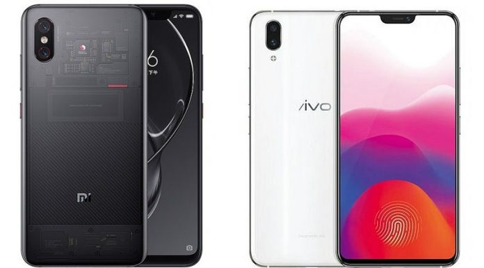 xiaomi mi 8 vs vivo x21 specification
